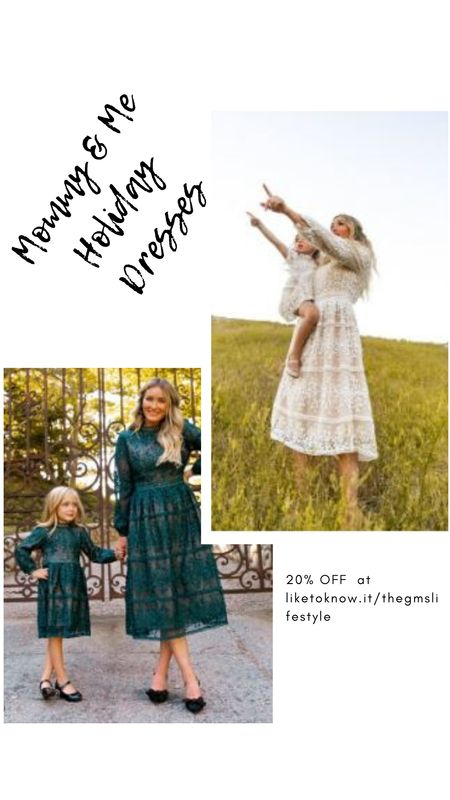 Holiday dresses by Ivy City Co.  20% off all weekend! (Including Mommy & Me styles for the minnie's).  http://liketk.it/32xFX   @liketoknow.it #liketkit   #LTKgiftspo #LTKsalealert #LTKstyletip #LTKunder50 #LTKunder100 #LTKfit #LTKbaby #LTKkids #mommyandme #holidaydresses #giftideas