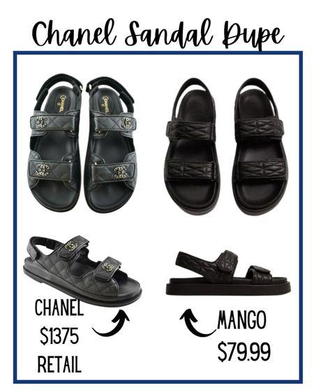Chanel Dad Sandal Dupe  #designerdupe #chaneldupe #dadsandal  #LTKshoecrush #LTKunder100 #LTKSeasonal