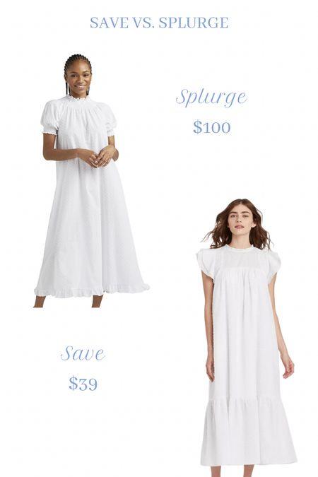 Save vs. splurge. Hill house home nap dress. Target nap dress.  #LTKstyletip #LTKunder100 #LTKunder50