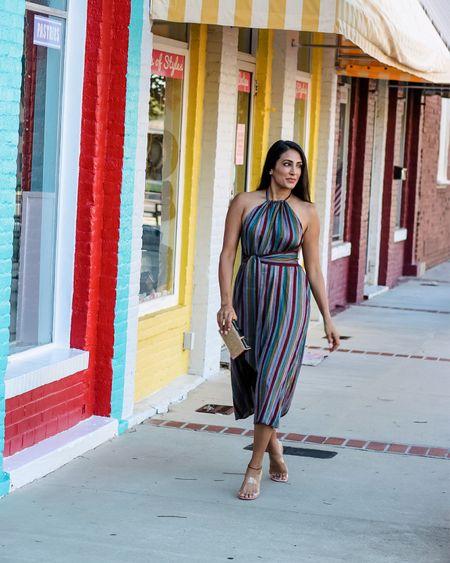 I love a chic midi length dress with some personality! #midi #multicolored #classy #dresses http://liketk.it/3k4wb #liketkit @liketoknow.it #LTKsalealert #LTKwedding #LTKstyletip