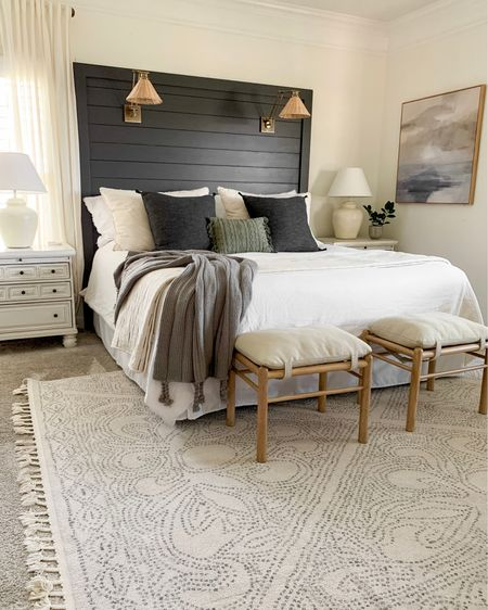 Master bedroom got some new art for spring! #masterbedroom #moody #studiomcgee @liketoknow.it #liketkit http://liketk.it/3bdby