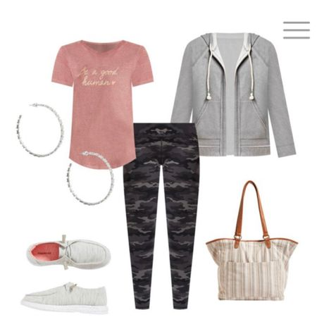 Look good while you lounge. Comfy leggings and cute graphic tee's! Pair with a khaki or tan tone tote for a relaxed look. http://liketk.it/3iXeG #liketkit @liketoknow.it #LTKunder100