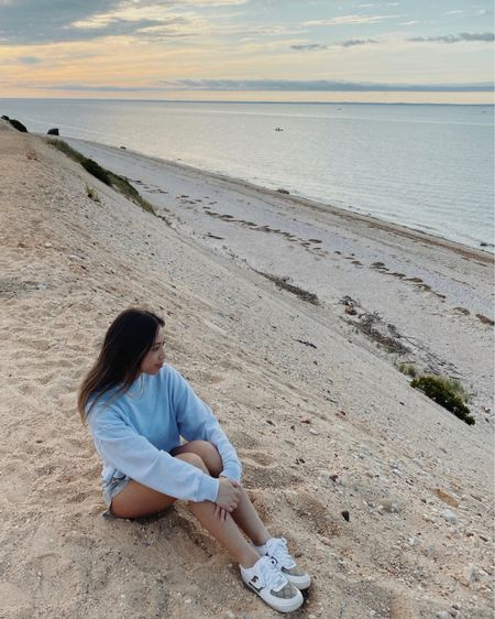 Sweater — Urban Outfitters Shorts — Bleached By Bern Sneakers — Custom Nikes via OneTwelvess Necklaces — Princess Polly, Cuffed By Nano  http://liketk.it/2UHCY #liketkit @liketoknow.it