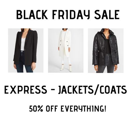 Favorite Express jackets and coats 50% off! http://liketk.it/32ulZ #liketkit @liketoknow.it #LTKsalealert #LTKunder50 #LTKunder100