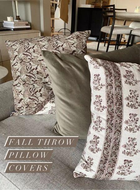 Fall throw pillow covers, fall decor     #LTKSeasonal #LTKhome