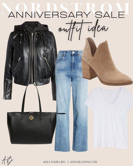 Moto jacket size Xs, jeans size 24  #LTKsalealert #LTKunder100
