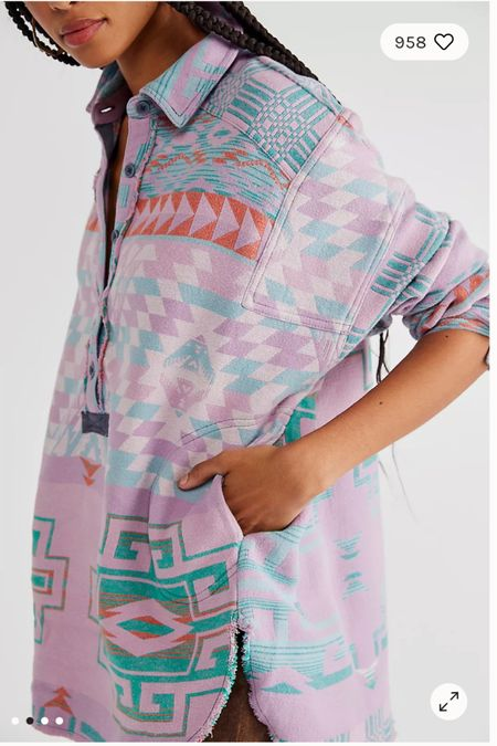 Obsessed with the colors of this Free People pullover!