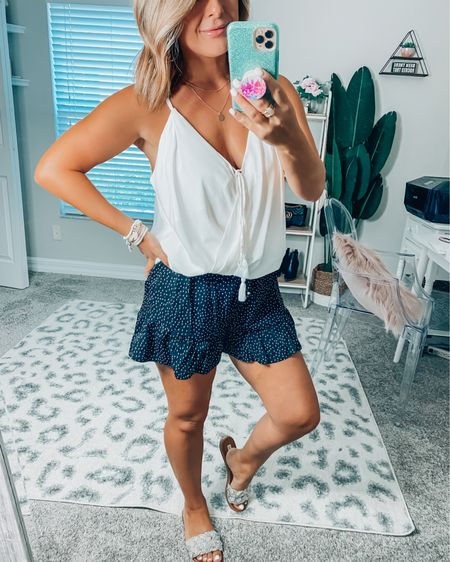 🚨 These ruffle shorts are on sale and available in white too!! Use ilda30 for an additional 30% off 🚨 http://liketk.it/3haKu #liketkit @liketoknow.it #LTKunder50 #LTKsalealert #LTKstyletip