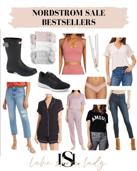 My bestsellers from the Nordstrom sale so far!  NSale  Underwear  Rain boots Jeans  Petite friendly jeans Shoes  Socks  Pajamas  Activewear