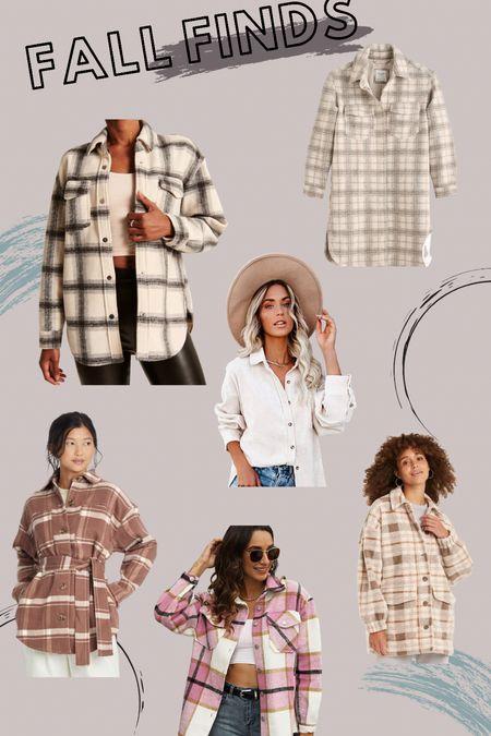 Fall shirt jackets #shackets love this fall trend   #LTKunder100 #LTKSeasonal #LTKstyletip