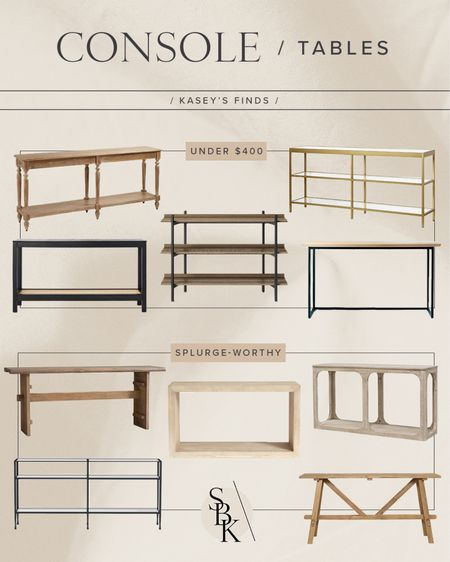 H O M E \ console tables!! 5 budg options and 5 splurge-worthy beauties🥰  #consoletable #entry #entryway #home  #LTKhome