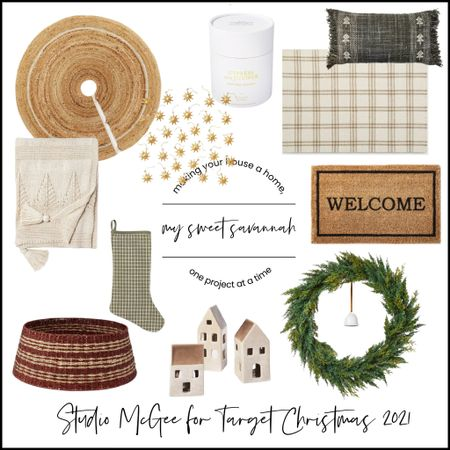 Studio mcgee Christmas for target. So many great ornaments, tree collar, doormat, wreaths, stockings, home decor, holiday accents! Shop early for best selection!   #LTKHoliday #LTKSeasonal #LTKhome
