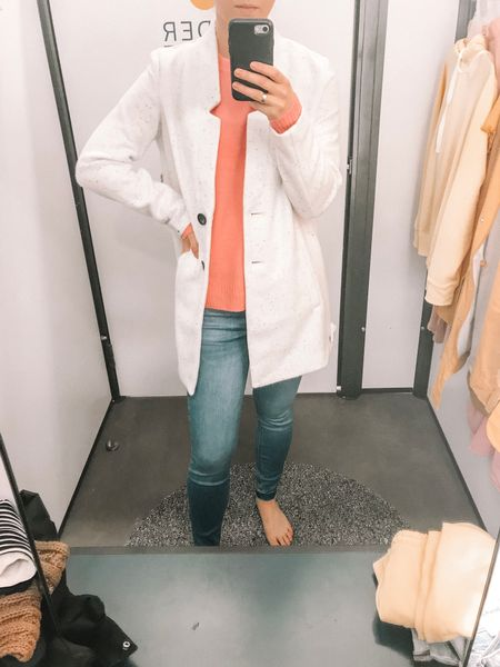 In LOVE with this Old Navy outfit! This white open front coat is the softest thing ever! The pink sweater is so cozy and perfect for Valentine's Day! These jeans have a built in layer for extra warmth!   http://liketk.it/2zDAq #liketkit @liketoknow.it #LTKunder100 #LTKunder50 #LTKstyletip #LTKsalealert