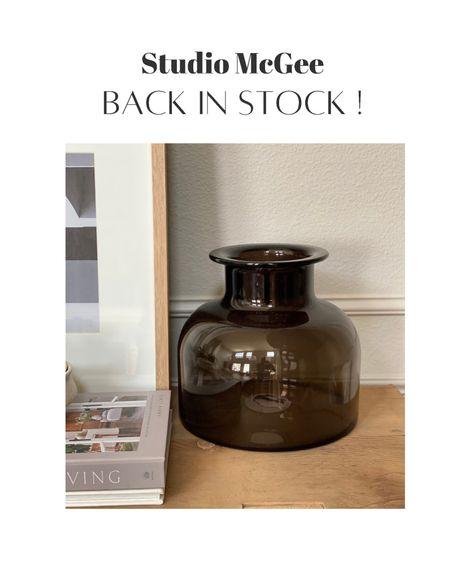 Studio McGee Target smoke vase back in stock! Hurry before it sells out again! Studio McGee threshold, Target, Target finds, smoke vase, amber vase, glass vase   #LTKhome #LTKsalealert #LTKunder50