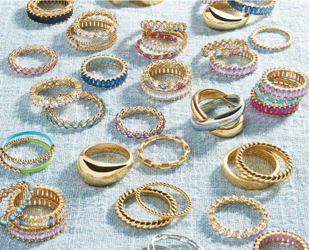 Baublebar ring sale! Get 15% off 2+ rings with code RING15. Chunky gold rings are trending. Add a pop of color, wear rings on new fingers. or layer rings to create your own look. 💍  #LTKunder50 #LTKunder100 #LTKsalealert