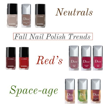 Fall nail polish trends ❤️💅🏻 loving neutrals, reds, and space-age iridescent hues 😍😍😍 linked up the IT colors in each category ❤️🎉  #LTKSeasonal #LTKbeauty #LTKunder50