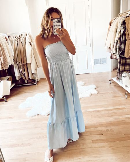 Amazon find maxi dress, comes in lots of colors and prints - Wearing a S http://liketk.it/3hsA5 #liketkit @liketoknow.it
