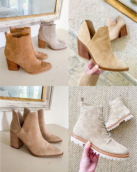 Booties for the season. Exact styles for all shoes pictured are linked — all five ran TTS for me. 🍂