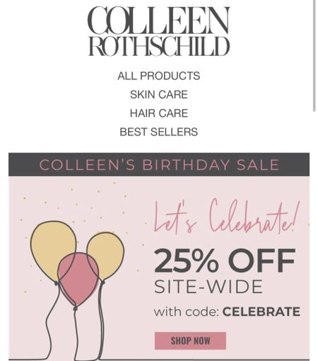 Colleen Rothschild sale   #LTKbeauty #LTKunder50 #LTKsalealert