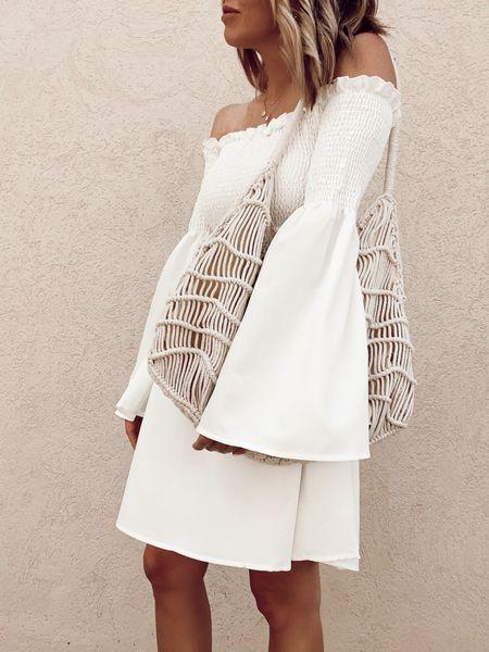 amazon fashion, white dress  #LTKstyletip #LTKunder50