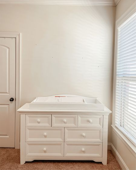 got ours from rooms to go | white dresser | changing table | 7 drawer dresser | nursery furniture | nursery @liketoknow.it #liketkit http://liketk.it/3cnZo