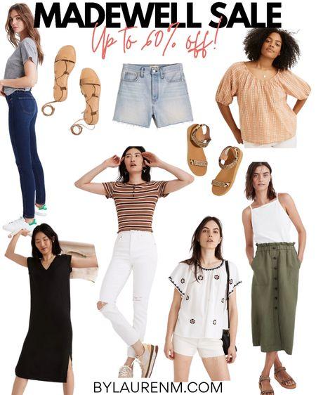 Madewell sale!! Up to 60% off! Sharing the items I own plus a few favs! The BEST EVER skinny jeans, all-time favorite denim shorts, cutest pull-on skirt, favorite sandals! @liketoknow.it http://liketk.it/3jCAK #liketkit #LTKsalealert #LTKunder50 #LTKunder100 @madewell #madewell #everydaymadewell