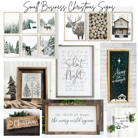 Shop small shops for your Christmas Décor signs this year!   http://liketk.it/32pHL @liketoknow.it #liketkit #LTKsalealert #LTKunder50 #LTKhome @liketoknow.it.home Shop your screenshot of this pic with the LIKEtoKNOW.it app