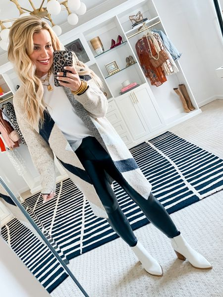 Code LAUREN15 for 15% off my sweater and leggings. Wearing a small in both.