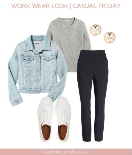 For a casual fall work wear look for teachers pair black pants with a crew neck sweater and white sneakers!   #LTKunder100 #LTKworkwear #LTKstyletip