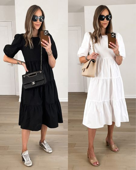 This midi dress is versatile for summer! Keep it casual with sneakers or dress it up with heeled sandals! Fits oversized I would size down. http://liketk.it/3iebY #liketkit @liketoknow.it #LTKunder50 #LTKunder100 #LTKstyletip #dresses #summerdress #mididress #whitedress