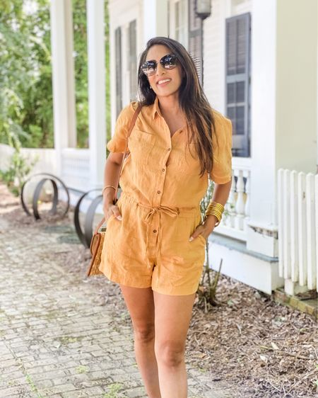 Linen rompers are a summer essential! #linen #romper http://liketk.it/3gfh6 #liketkit @liketoknow.it #LTKtravel #LTKstyletip #LTKcurves