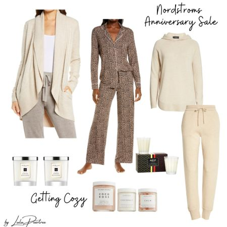 Getting cozy Nordstrom Anniversary Sale. http://liketk.it/3jR4h #liketkit  #LTKsalealert #LTKunder100 #LTKhome @liketoknow.it You can instantly shop all of my looks by following me on the LIKEtoKNOW.it shopping app  Pijamas. Sweats. Work from home outfit. Comfy outfits. Candles. Cardigan.