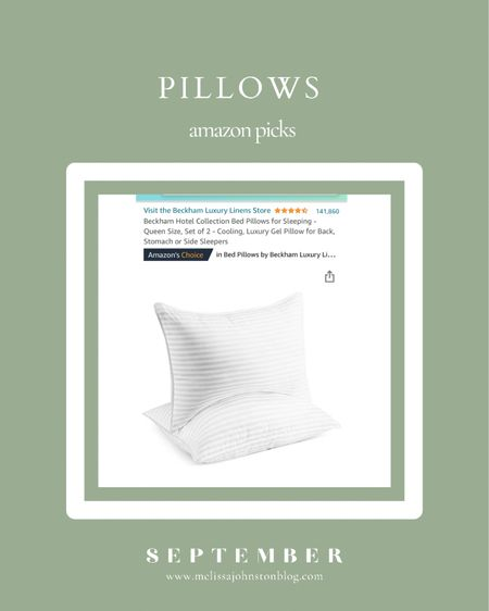 Amazon Pillows Daily Deal - 2 king size pillows for under $35  #LTKunder50 #LTKhome #LTKfamily
