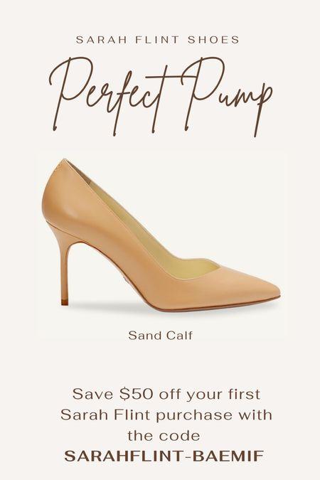 $50 off first order with code: SARAHFLINT-BAEMIF  Leather shoes. Tan shoes. Beige shoes. Wedding shoes. Designer shoes. Work shoes.   #LTKshoecrush #LTKsalealert #LTKworkwear