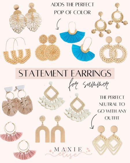 Statement Earrings For Summer ✨  #statementearrings #summerearrings #rattanearrings #amazonfinds #amazonjewelry #lulusjewelry  #LTKunder100 #LTKstyletip #LTKunder50