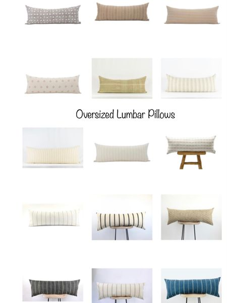 Oversized lumbar pillows perfect for your bed, sofa or bench.    You can instantly shop all of my looks by following me on the LIKEtoKNOW.it shopping app http://liketk.it/3jQcV #liketkit @liketoknow.it #LTKunder50 #LTKunder100 #LTKhome @liketoknow.it.home