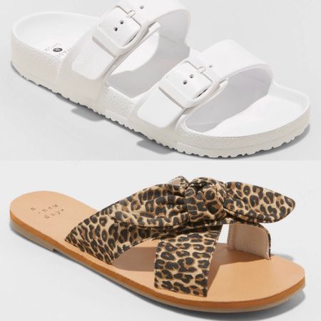 My two go to sandals are 30% off at Target! The white ones are under $11 and the leopard sandals are just over $16!!   http://liketk.it/2NYmF #liketkit @liketoknow.it #LTKsalealert #LTKshoecrush Download the LIKEtoKNOW.it shopping app to shop this pic via screenshot