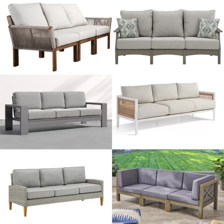 It's that time of year again! Time to get your outdoor spaces set up and ready to entertain... if that is ever a thing again :/  In the process of helping one of my clients with their new outdoor space I came across some really great outdoor sofas that I wanted to share with you all. I shared some of the teak and white ones that are so popular right now but also the ones I found for her that are more weather resistant than teak and with cushions that aren't so hard to keep clean. @liketoknow.it #liketkit http://liketk.it/3d9kh
