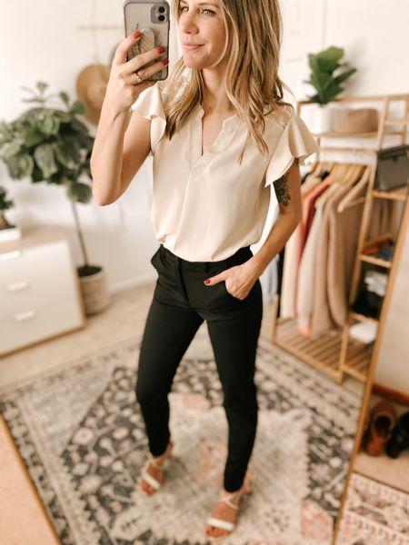 V Neck Short Sleeve Chiffon Shirts Color: Beige/TTS/wearing a size S  #ifounditonamazon #amazonfashion #amazonfinds #outfitoftheday #ootd #outfitideas #outfitinspo #Amazonshirt   http://liketk.it/3pGdz @liketoknow.it #liketkit #LTKSeasonal #LTKcurves #LTKfit #LTKstyletip