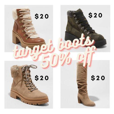 All target brand boots are 50%. Shop your screenshot of this pic with the LIKEtoKNOW.it shopping app #liketkit @liketoknow.it #LTKsalealert #LTKshoecrush #LTKunder50  http://liketk.it/34i0v
