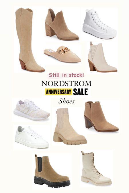 Nordstrom anniversary sale Shoes still in stock  Boots Vince camuto  Steve Madden mules  Adidas sneakers  OTK boots Marc Fisher  Converse  Fall booties    #LTKsalealert #LTKshoecrush #LTKunder100