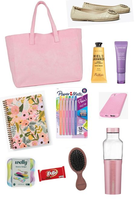 Top Ten Items every teacher needs in the school bag! Are you a teacher? Then you'll need these in your back to school bag!   First, start with a high quality bag like this one from Stoney Clover Lane. Water bottle, change of comfortable shoes, lip balm and hand lotion, a notebook and pretty flair pens, portable charger, hair brush and band aids, and emergency chocolate!   Trust me! You'll need it.  #ltkteacher #teachersofinstagram #teacherbag #stoneycloverlane  #LTKbacktoschool #LTKworkwear #LTKitbag