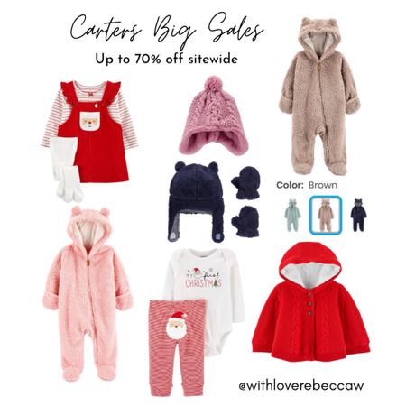 http://liketk.it/345Xs #liketkit @liketoknow.it Carters baby boy and baby girl outfits. It's a cozy christmas! Up to 70% off sitewide.
