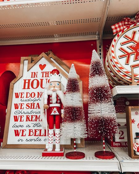More Michael's finds! Michael's is having a huge 50% off sale for all Christmas decorations. They have lots of fun signs and nut crackers, gnomes and even mini tabletop tree decorations. I love the red and white candy cane options they have. They are all under $30! They also have some fun throw pillows with snowflakes. Perfect to get your house in the holiday spirit. http://liketk.it/32YYS #liketkit @liketoknow.it #LTKsalealert #LTKunder50 #LTKhome