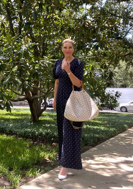 Polka dot perfection in this easy jumpsuit #workwear #officestyle #workstyle #amazonfinds #backtoschool   #LTKunder50 #LTKitbag #LTKbacktoschool