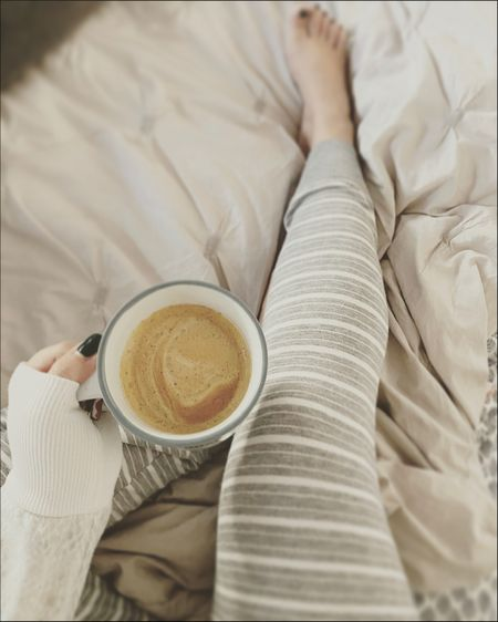 Early morning vibes ☕️ Feeling so comfy in my striped pajamas from Target.   ☕️ Follow me on the LIKEtoKNOW.it shopping app to get the product details for this look and others LIKEtoKNOW.it/sweet.p.and.sky  ☕️ Screenshot this pic to get shoppable product details with the LIKEtoKNOW.it shopping app   ☕️ Use this link to find the features product http://liketk.it/38ltw    #liketkit @liketoknow.it #StayHomeWithLTK #LTKVDay #LTKunder50 @liketoknow.it.home @liketoknow.it.family #target #targetstyle #jammies #pjs #pajamas
