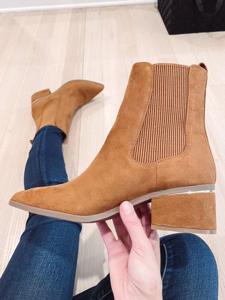 These pretty tan booties are perfect for fall and on sale at express today.  They also come in black!   #LTKSale #LTKunder100 #LTKshoecrush