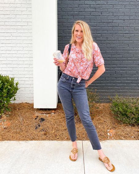 Love my 501 skinny jeans for a fun weeknight dinner and ice cream date! My top comes in 5 different colors and is under 30! And I linked similar earrings and bag! http://liketk.it/3d56Y #liketkit @liketoknow.it #LTKunder50 #LTKunder100