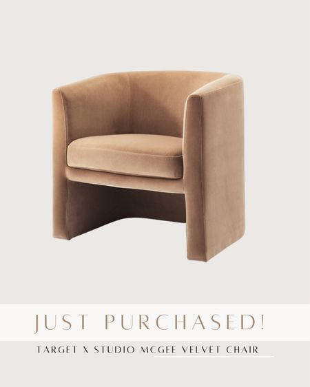 Target x studio McGee accent chair is back in stock!    #LTKhome