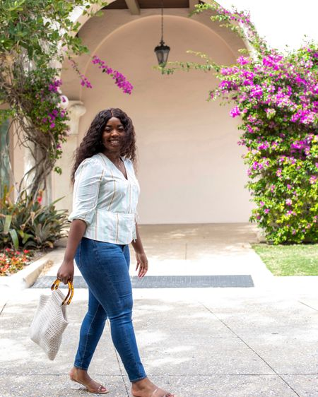 Stepping into Spring with this wrap top, jeans, and sandals for a casual look http://liketk.it/3arjl #liketkit @liketoknow.it #LTKSeasonal #LTKstyletip Follow me on the LIKEtoKNOW.it shopping app to get the product details for this look and others #LTKunder100